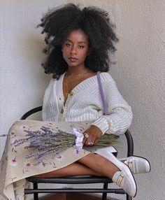 62 Best Girls images in 2020 Black Girls Hairstyles, Afro Hairstyles, Curly Hair Styles, Natural Hair Styles, Black Girl Aesthetic, Black Girl Fashion, High Fashion, Beautiful Black Women, Black Girl Magic