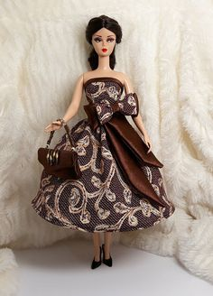 All Lengths Beige Brown Doll Gloves for Modern Barbie Silkstone Muse