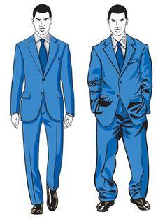 Most men wear a suit 2 sizes too large.  Fit matters - a lot.