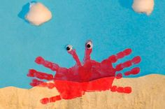 Ocean picture: Hand print crab
