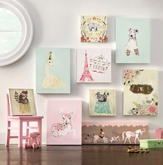 Try whimsical wall art for your child's playroom for ultimate creativity. HomeDecorators.com #summerfun