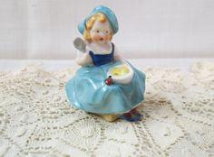 Vintage Miss Muffet Bone China Figurine Germany Porcelain Hand Painted by KansasKardsStudio on Etsy