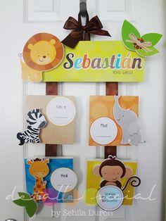 Cartel bienvenido Baby Door Hangers, Hospital Door, Baby Decor, Baby Room, Baby Items, Diy And Crafts, Nursery, Handmade, Ideas