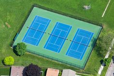 Elementary School Tennis Courts with 10 and Under Lines / Program.