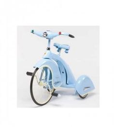 sky blue tricycle