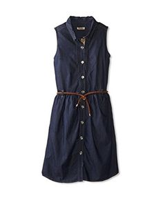 Burberry Kid's Dark Chambray Dress (Denim)