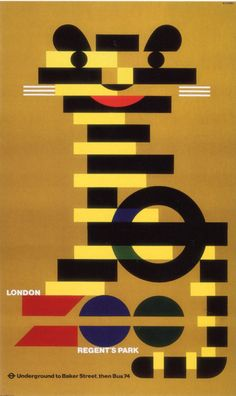 London Transport poster, Abram Games, 1976