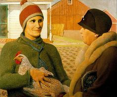 'The Appraisal' By Grant Wood, 1931