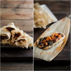 Chipotle Sweet Potato, Spinach, and Black Bean Tamales