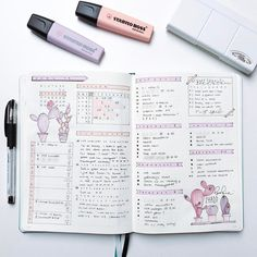"2,141 Likes, 30 Comments - Roz • Bullet Journal (@rozmakesplans) on Instagram: ""I was starting to get bored, so I changed things up a little. #bulletjournalmonthlylog…"""