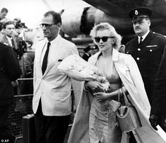 Being watched: Marilyn Monroe and her husband, playwright Arthur Miller were both suspected of communist activities by the FBI