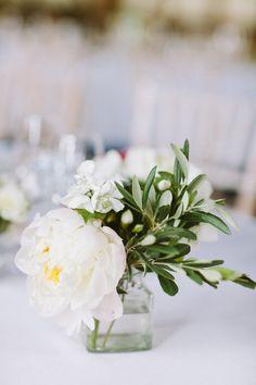 White Wedding Flowers | Gemma & Tom's DIY Barn Wedding | Natasha Hurley Photography | Bridal Musings Wedding Blog