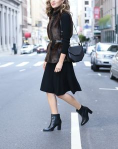 7 Unexpected Ways to Layer Dresses into Winter Outfits via @PureWow