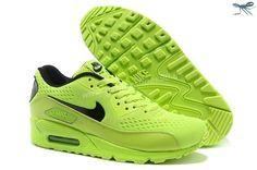 Green Black Nike Store For Air Max 90 Premium EM Mens Trainers