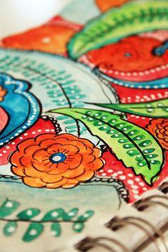 a peek inside my sketchbook- exploring color & pattern alisa burke