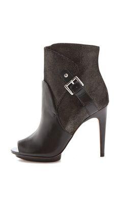 Luxury Rebel Shoes Waverly Open Toe Booties