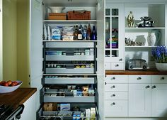 1000mm larder pantry can be transformed with the internal drawers. dont have the space? re create the effect using a 600mm larder unit