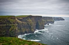 With varying landscapes, The Cliffs of Moher are a beautiful romantic spot with a great view.