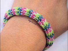 Pulsera de gomitas Pentafish invertida | Inverted Pentafish bracelet #raimbowloom #pulserasdegomitas #pulserasdeligas #DIY #pulseras Friendship Bracelets, Rubber Band Bracelet, Charm Bracelets, Loom Bands, Craft Tutorials, Loom Knitting
