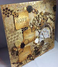Isle of Crafty Creations: Mixed Media Monday - 'Hope' Canvas