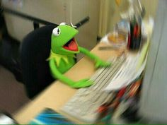 The post appeared first on Kermit the Frog Memes. Funny Video Memes, Cute Memes, Sapo Frog, Sapo Kermit, Reaction Pictures, Funny Pictures, Kermit The Frog Meme, Sapo Meme, Mood Pics