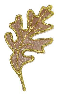PATCHWORK PANDA LLC - Iron On Patch Applique - Oak Leaf Sheer Gold, $0.68 (http://www.patchworkpandatrims.com/iron-on-patch-applique-oak-leaf-sheer-gold/)