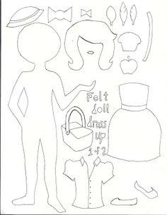 !!!!♥ Feltro-Aholic Moldes e tutoriais em feltro: Mural de bonecas em feltro - Moldes e Tutorial