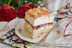 Z miłości do słodkości...: CIasto z jabłkami i masą truskawkową według Siostry Anastazji