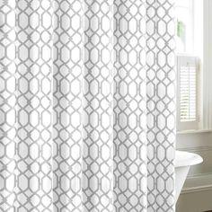 Shoreline Trellis Cotton Single Shower Curtain In 2020 Cotton