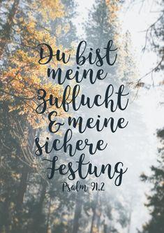 Praise Poster — Du bist meine Zuflucht und meine sichere Festung....
