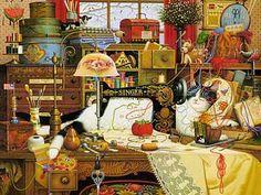 Charles Wysocki Maggie The Messmaker All Other Wysocki Prints Low Prices   eBay