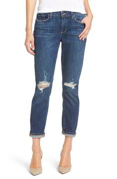 paige ripped slim boyfriend jeans