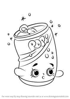 How to Draw Soda Pops from Shopkins - DrawingTutorials101.com