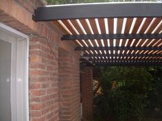 iron, wood and polycarbonate pergola, entrance 2 cars. When early within concept, a pergola has Corner Pergola, Small Pergola, Pergola Attached To House, Deck With Pergola, Cheap Pergola, Covered Pergola, Black Pergola, Pergola Cover, Small Patio