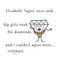 11.24.14 Big girls, big diamonds #mondayswithasmile #misskarat @Coderque Jewels