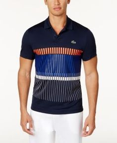 Lacoste Collection for Novak Djokovic Men's UltraDry Performance Polo - Blue XL Lacoste Polo, Mens Activewear, Sport Casual, Sport Wear, Polo Ralph Lauren, Polo Shirt, Mens Fashion, Mens Tops, Menswear Trends
