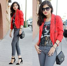 838f51384f2e Red jacket Forever 21 T Shirts