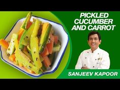 How to make Veg Salads at home? Watch MasterChef Sanjeev Kapoor explain in hindi the recipe & cooking method of Pickled Cucumber & Carrot Salad. Cucumber Carrot Salad, Carrot Salad Recipes, Cucumber Recipes, Chef Work, Sanjeev Kapoor, Pickling Cucumbers, Chutney Recipes, Recipe Collection, Food Dishes