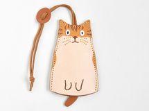 【受注生産】猫のキーケース 茶白