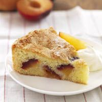 Peach-and-Plum Almond Cake - Cake Recipes - Delish.com