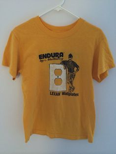 Vintage 1980s Endura Wallplates By Mulberry T-shirt on Etsy, $25.00