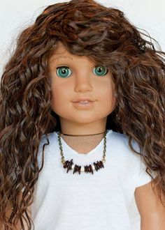 American Girl doll bead necklace brown and by EverydayDollwear The customs, oh the customs! Custom American Girl Dolls, American Girls, Custom Dolls, Crochet Necklace, Beaded Necklace, Necklaces, Doll Accessories, Fashion Accessories, Dolls Dolls