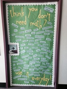{image only} Final classroom door - think you don't need math?