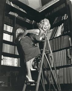 Marilyn Monroe by FEDERICO PATELLANI~ Would love to do a shoot like this, especially since I worked in the school library my senior year of high school