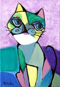 picasso-styled-cat 中尾道也 Picasso Style, Space Cat, Cubism, My Works, Disney Characters, Fictional Characters, Aurora Sleeping Beauty, Cat Paintings, Disney Princess