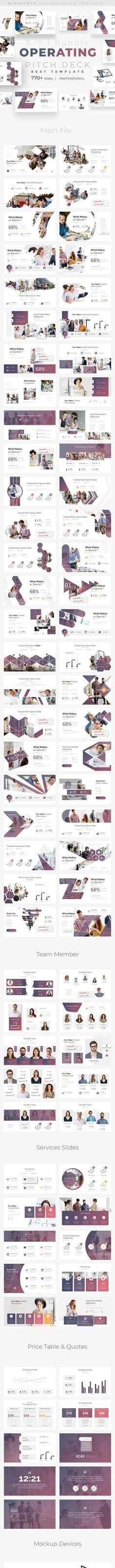 Operating Pitch Deck 3 in 1 Bundle Keynote Template Business Presentation by bluestack. Business Presentation Templates, Business Powerpoint Templates, Presentation Design, Keynote Template, Pitch Deck, Branding Design, Graphic Design, Creative, Brand Design