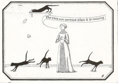 Nervous cats by Gorey