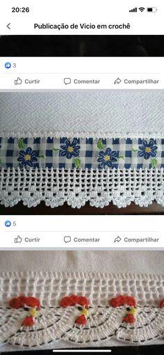 Crochet Edging Patterns, Crochet Basket Pattern, Crochet Borders, Crochet Stitches, Crochet Trim, Love Crochet, Beautiful Crochet, Knit Crochet, Crochet Bedspread