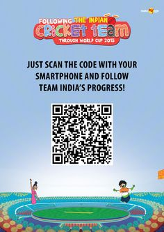 Just click on the #QR code in the #creative and follow Team India's progress through the Cricket World Cup.