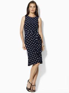 Lauren by Ralph Lauren - Polka-Dot Jersey Dress. $50!